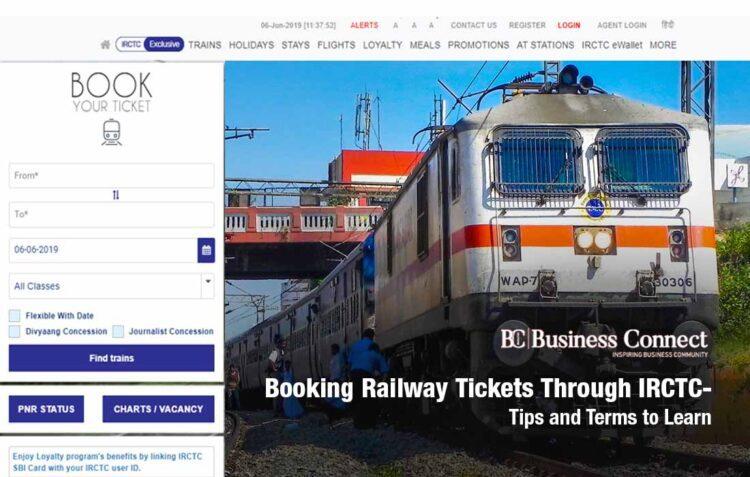 Booking railway tickets through IRCTC