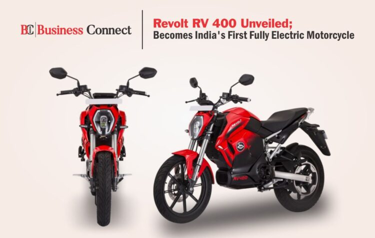 India's First Fully Electric Motorcycle-Revolt RV 400
