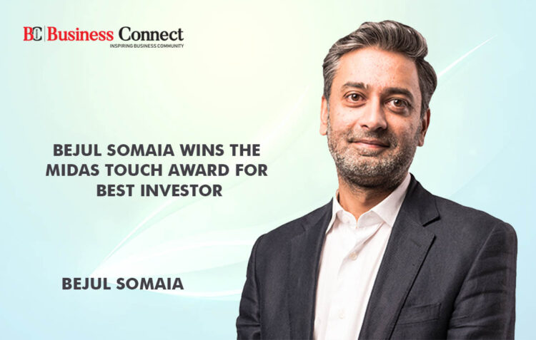 Bejul Somaia win the Midas Touch Award-Business Connect