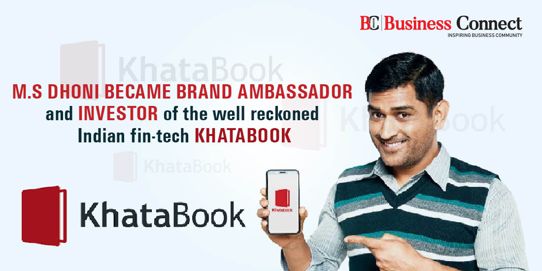M.S Dhoni joins Khatabook   Business Connect