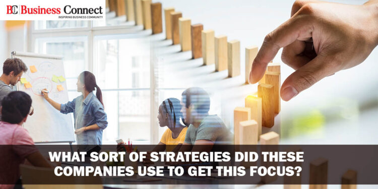 What sort of Business strategies did these companies use to get this focus - Business Connect