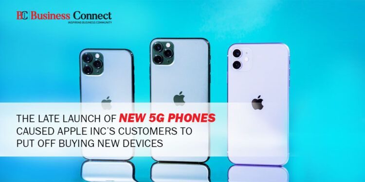 The Late Launch of New 5G Phones Caused Apple Inc's Customers to put off Buying New Devices