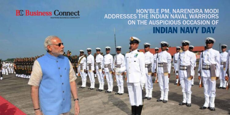 Hon'ble PM, Narendra Modi addresses the Indian Naval Warriors on the auspicious occasion of Indian Navy Day
