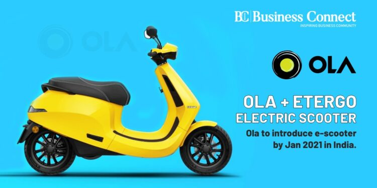 Ola Etergo Electric Scooter Ola to introduce e-scooter by Jan 2021 in India