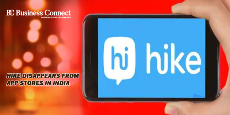Hike Disappears from App Stores in India