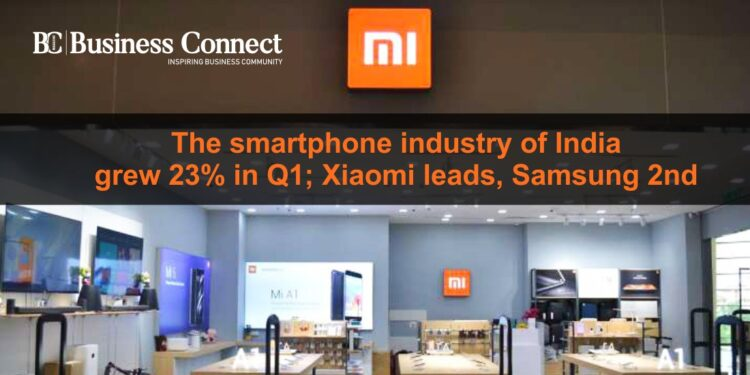 The smartphone industry of India grew 23% in Q1; Xiaomi leads, Samsung 2nd