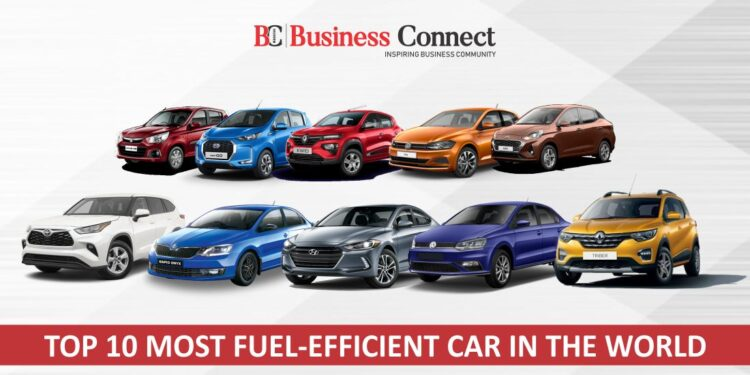 Top 10 most fuel-efficient car in the world
