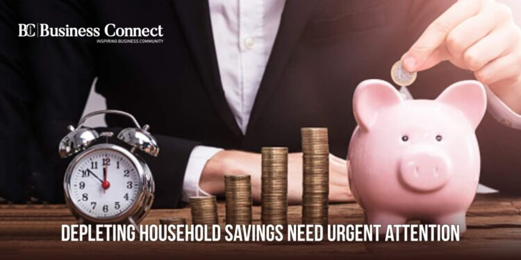 Depleting household saving need urgent attention