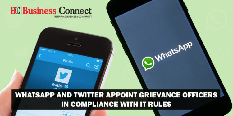WhatsApp and Twitter appoint grievance officers in compliance with IT Rules