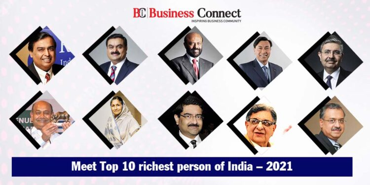 Top 10 richest person of India and their Net Worth