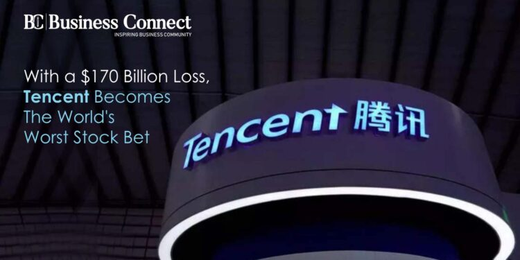 With a $170 Billion Loss, Tencent Becomes The World's Worst Stock Bet