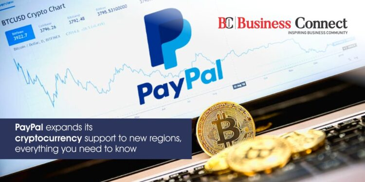 PayPal expands its cryptocurrency support to new regions, everything you need to know