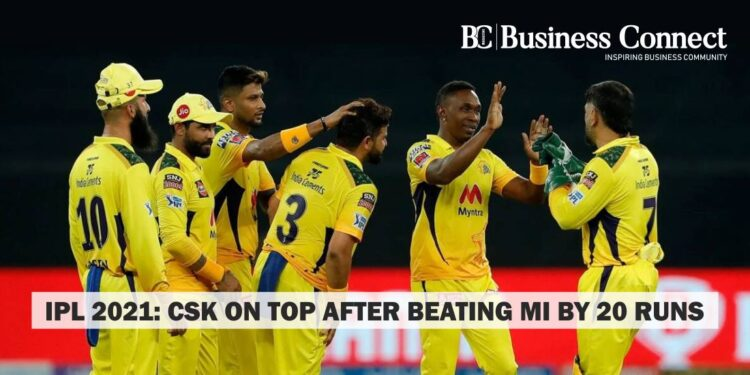 IPL 2021 CSK on top after beating MI by 20 runs