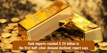 Gold imports reached $ 24 billion in the first half; silver demand declined; report says